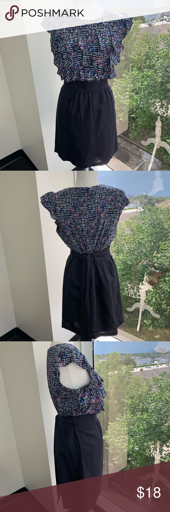 Navy blue pink and white, short dress Navy blue pink and white, short dress, and short sleeves. Super cute for those fun summer parties. Looks brand new. See pictures for more details. 213 Dresses Mini #navyblueshortdress