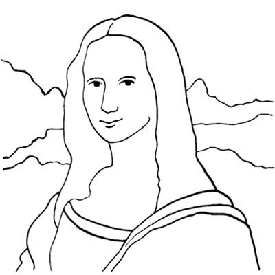 How to draw the mona lisa google search art projects for Mona lisa coloring pages