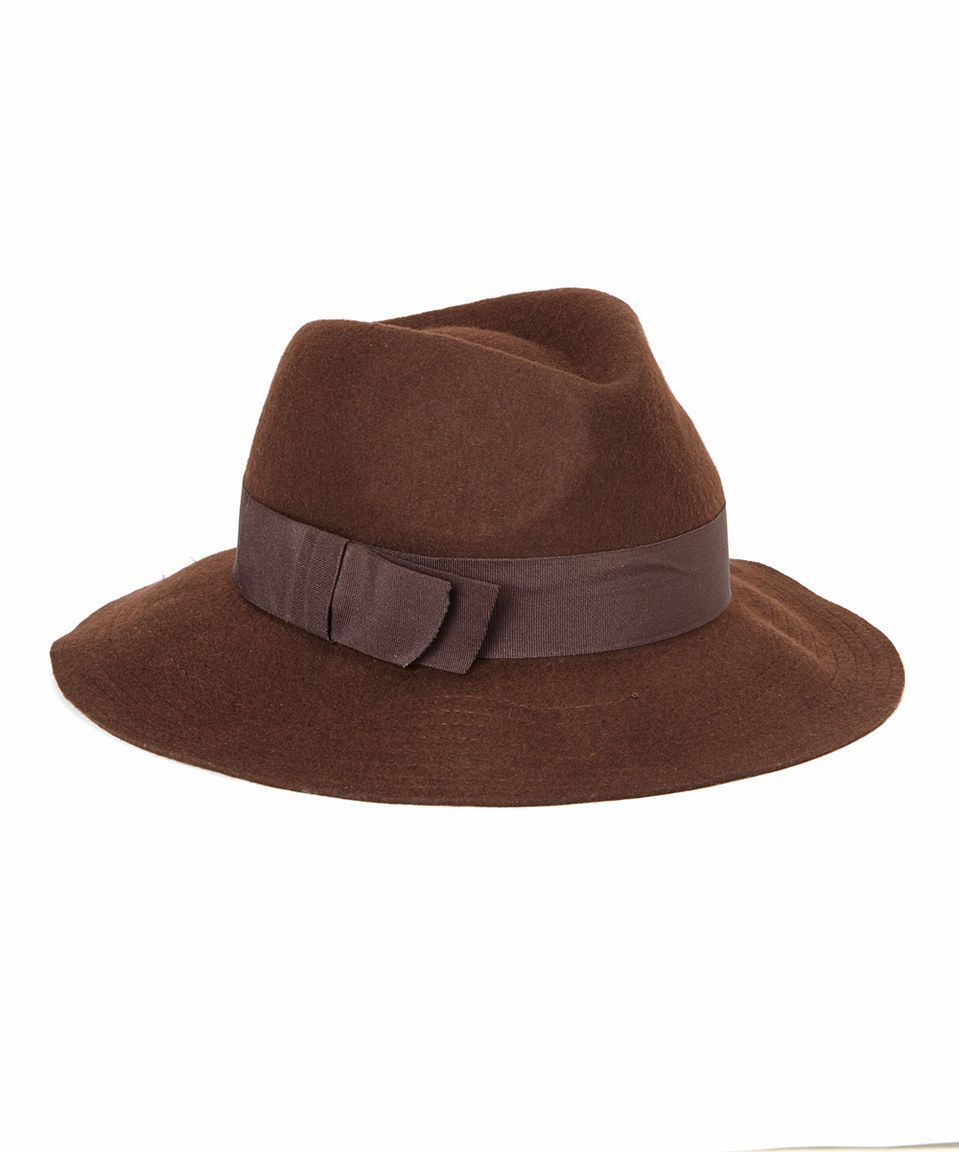 e34065318420a Jeanne Simmons Accessories Brown Large Brim Wool Fedora by Jeanne Simmons  Accessories  zulilyfinds