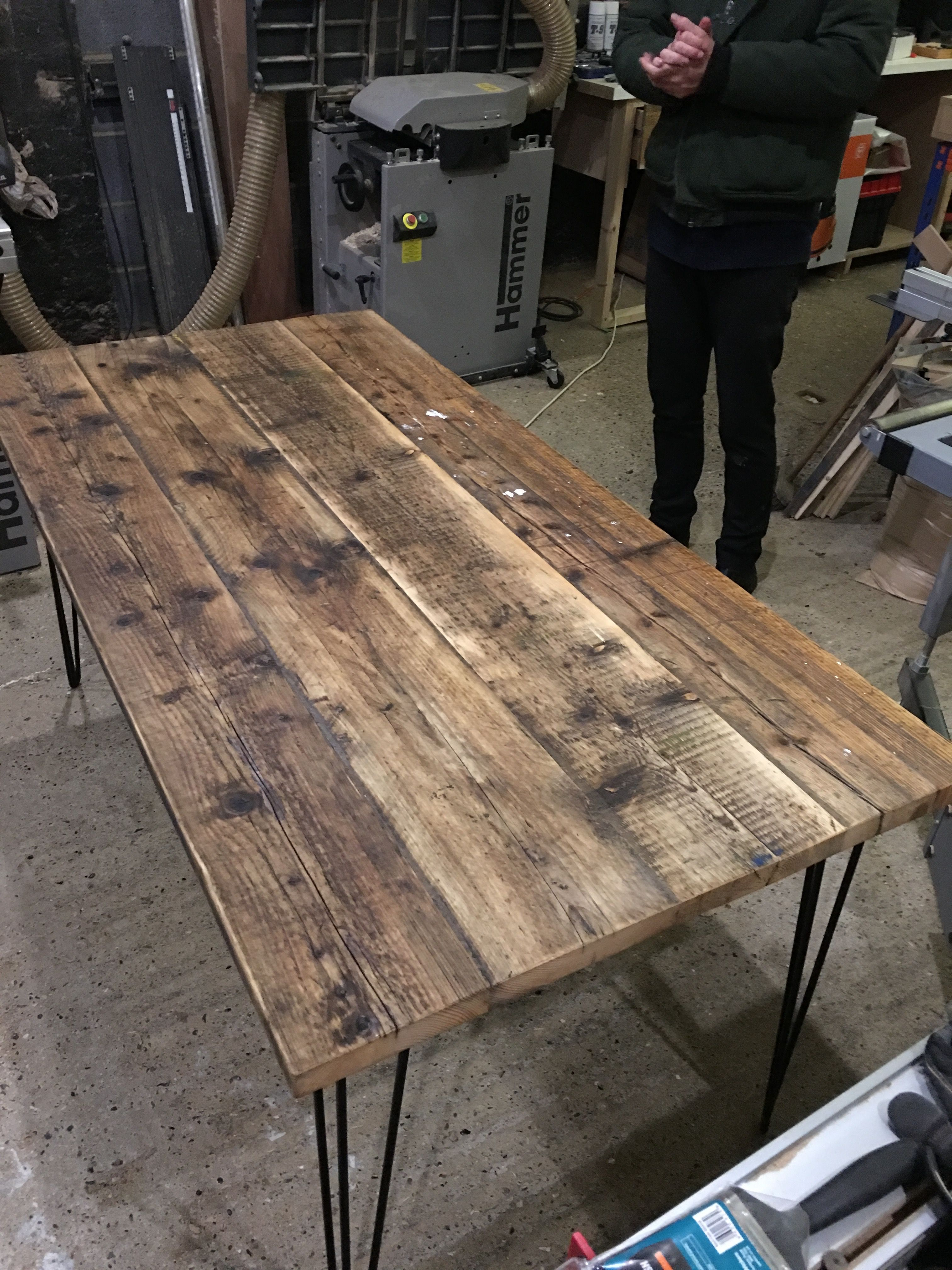 Reclaimed Scaffold Board Table Dining Table Rustic Kitchen Table Decor Diy Kitchen Table