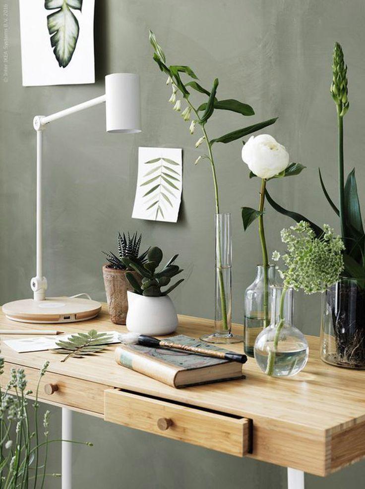 Warm hout botanical bedroom decor interior nature home green also match made in heaven met een vleugje groen en glazen rh pinterest