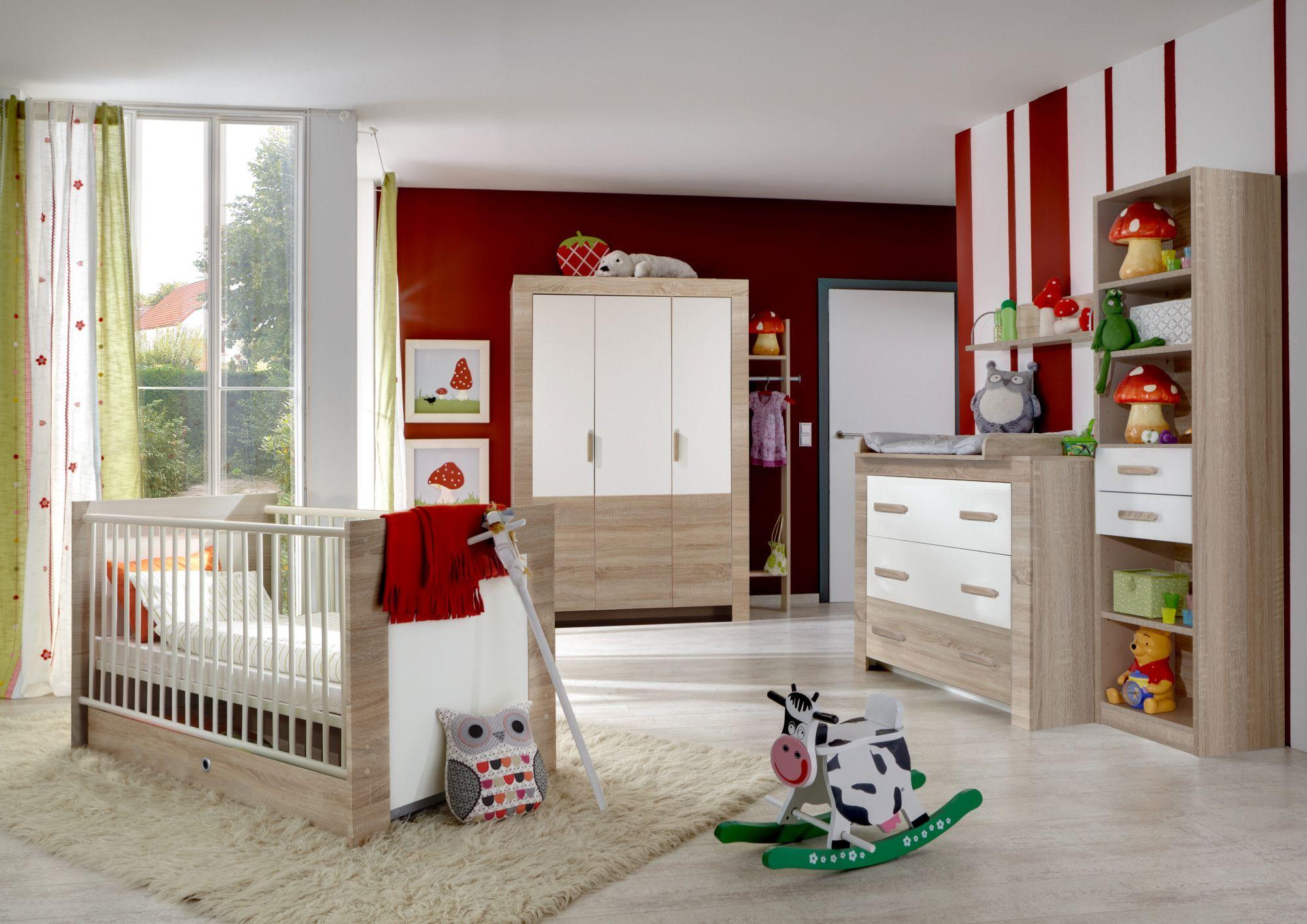Babyzimmer Nussbaum ~ Babyzimmer »emma« 4 tlg in alpinweiß u2013 nussbaum graphit
