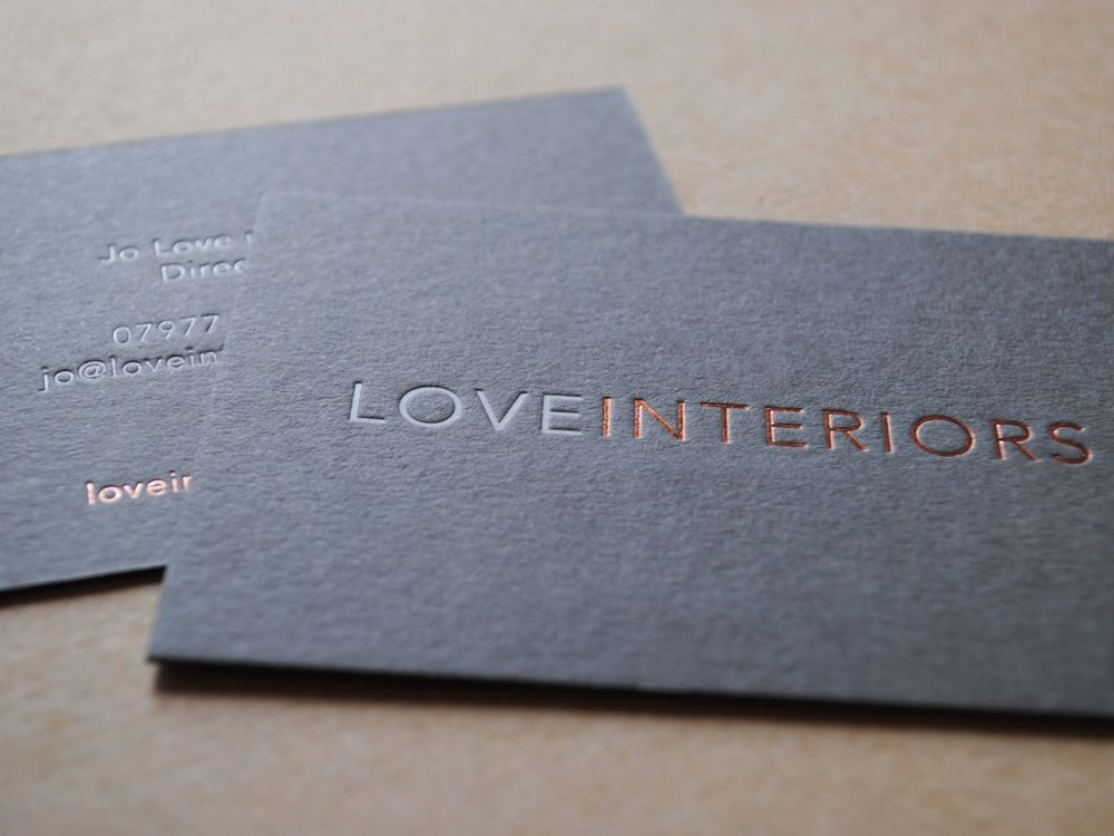 Font Business Cards by Auroraprint: Rose gold and gloss white ...