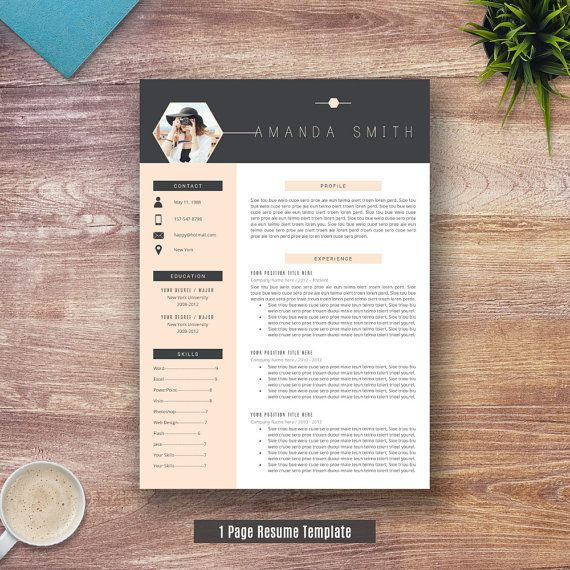 Creative Resume Template for Word 1 and 2 Page by ResumeExpert ...
