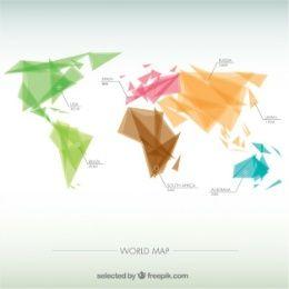 Geometric world map infographic branding ideas pinterest geometric world map infographic gumiabroncs Images