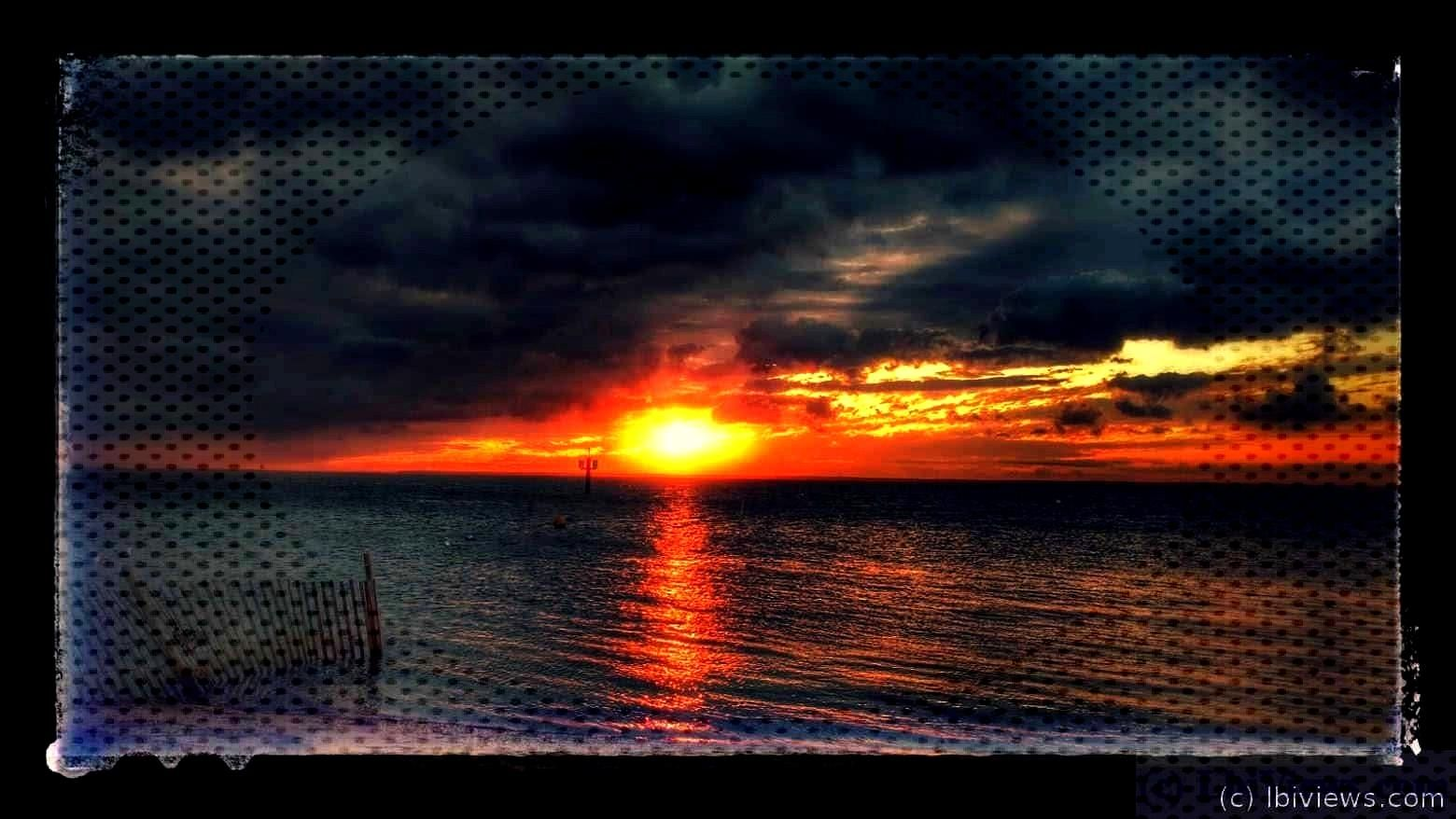 a slide show of sunsets.   Sunsets Sept 2016 - LBI Views  .Sunsets from September 2016 Click any of