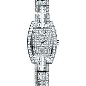 37a423436669b Tonneau cocktail watch in 18k white gold with diamonds, quartz ...