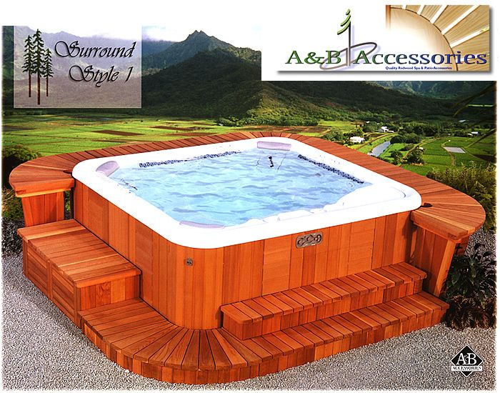 Spa Hot Tub Surround Kits Hot Tub Surround Hot Tub Designs Hot Tub Backyard