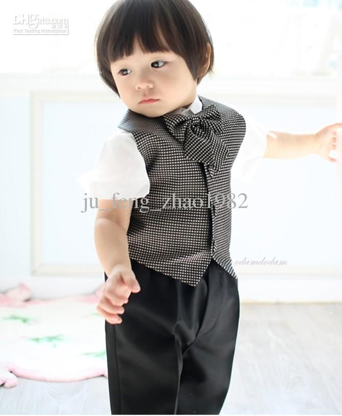Plaid Vests Boys Girls Formal Occasion 2013 Kids Suits Tuxedo Male