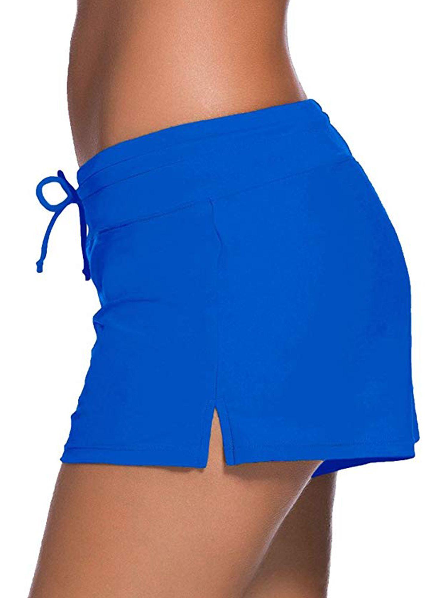 SAYFUT Women's Plus Size Swimsuits Board Shorts Side Split