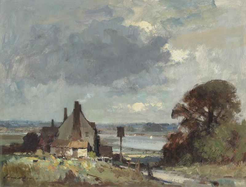 Edward Seago | Suffolk - The Road to the River