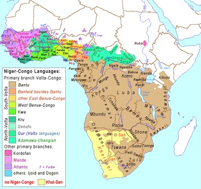 Kongo Civilization The Seven Subgroups Of The Niger Congo Family