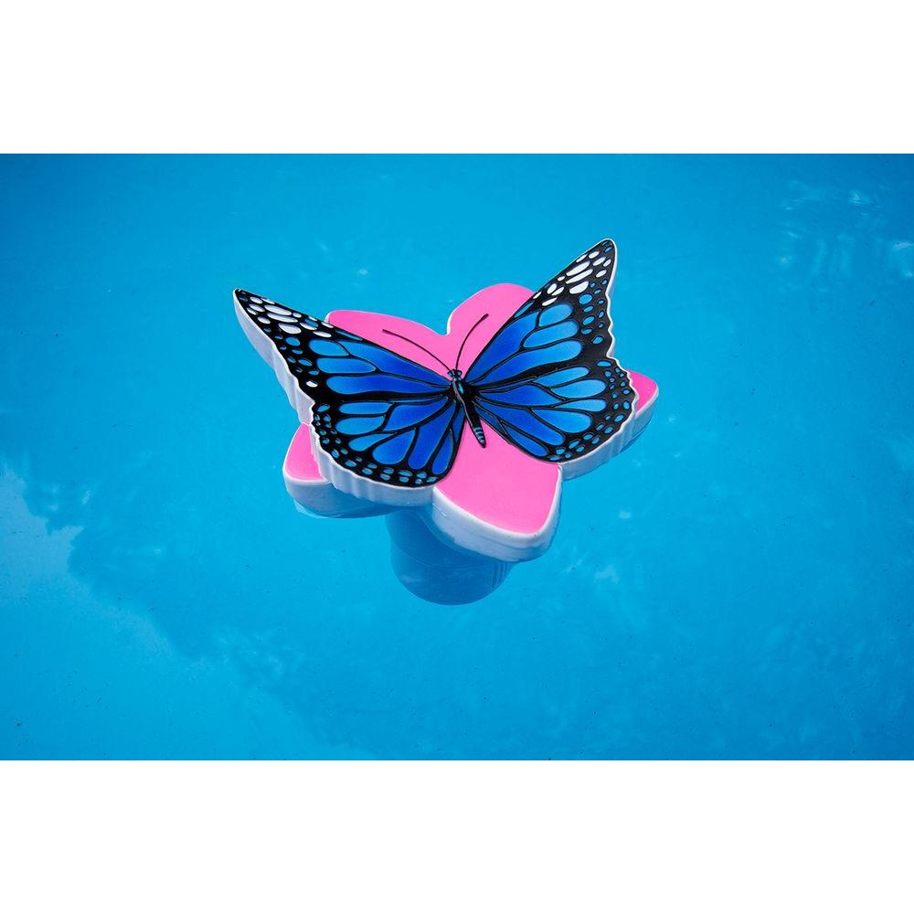 Poolmaster Butterfly Swimming Pool And Spa Chlorine Dispenser In Blue 32129 The Home Depot Butterfly Swimming Pool Chemicals Spa Pool