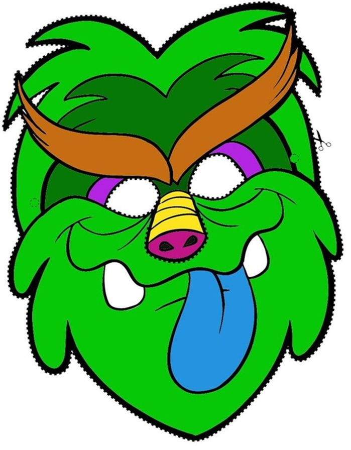 kids-face-masks-template-print-green-monster.jpg (699×896) | chi buu ...