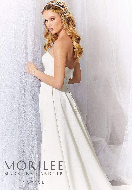 Ava Wedding Dress Morilee Minimal Wedding Dress Wedding Dresses Modest Bridal Gowns [ 2630 x 1834 Pixel ]