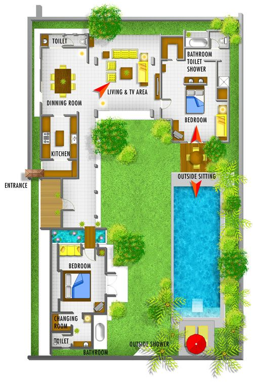 Bali Style House Floor Plans – Styles Of Homes With Pictures