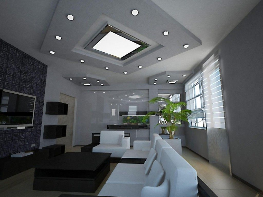 Square Led Recessed Lighting And Big Idea For Living Room Pictures