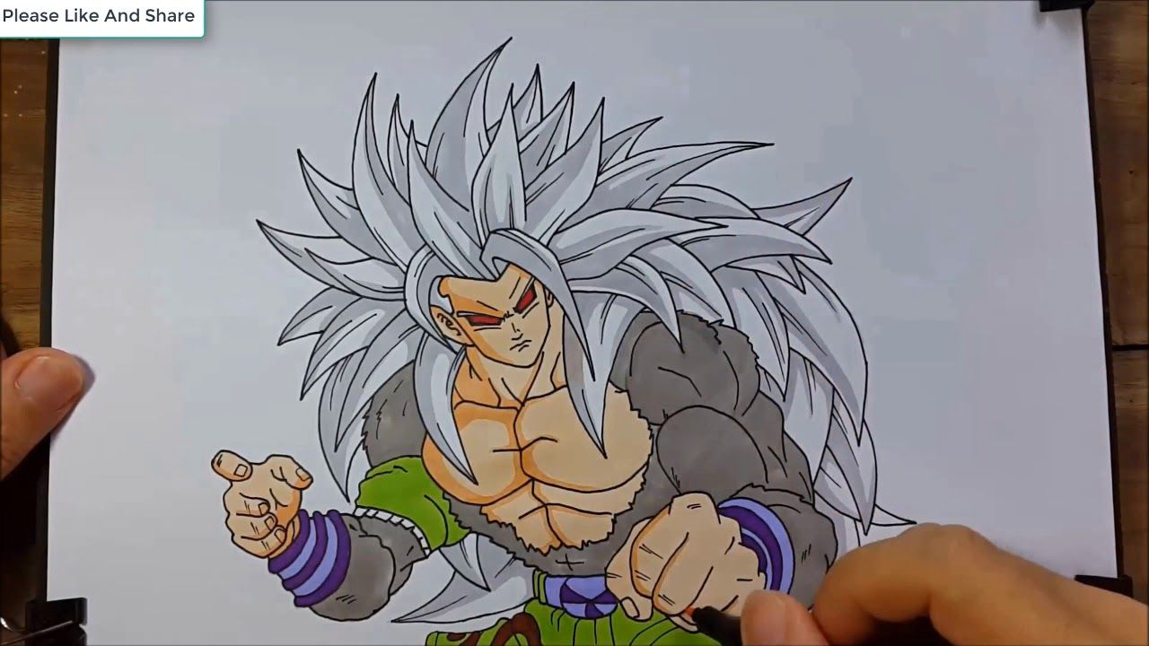 Drawing Gogu Super Saiyan 5 Dragon Ball Goku Drawing