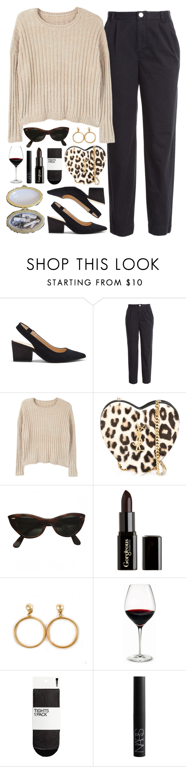 """""""Untitled #305"""" by brigi-bodoki ❤ liked on Polyvore featuring Sole Society, Marc by Marc Jacobs, MANGO, Yves Saint Laurent, Ray-Ban, Gorgeous Cosmetics, Chanel, Holmegaard and NARS Cosmetics"""