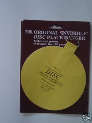 140mm Self Adhesive Plate Hanger / Stick On Plate Hanging Disc ...