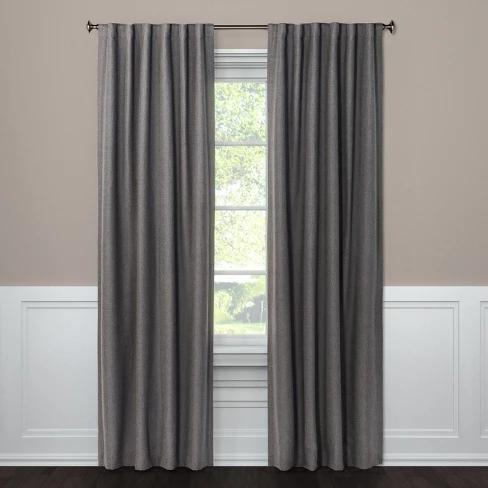 Aruba Curtain Panels 84 X50 Blackout Radiant Gray Threshold