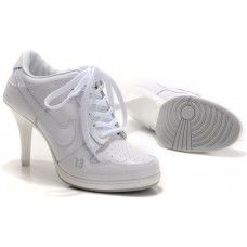 Nike Dunk SB Stiletto High Heels All White