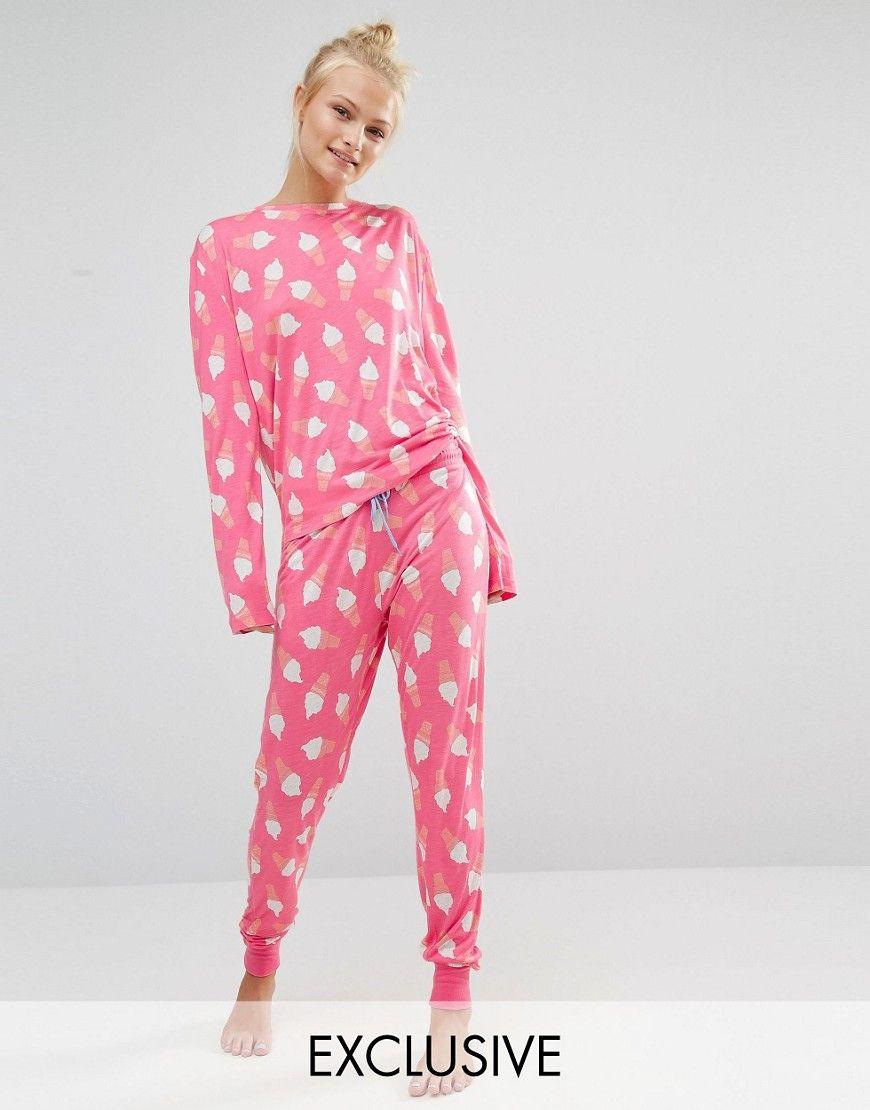 Chelsea+Peers+Ice+Cream+Long+Pyjama+Set