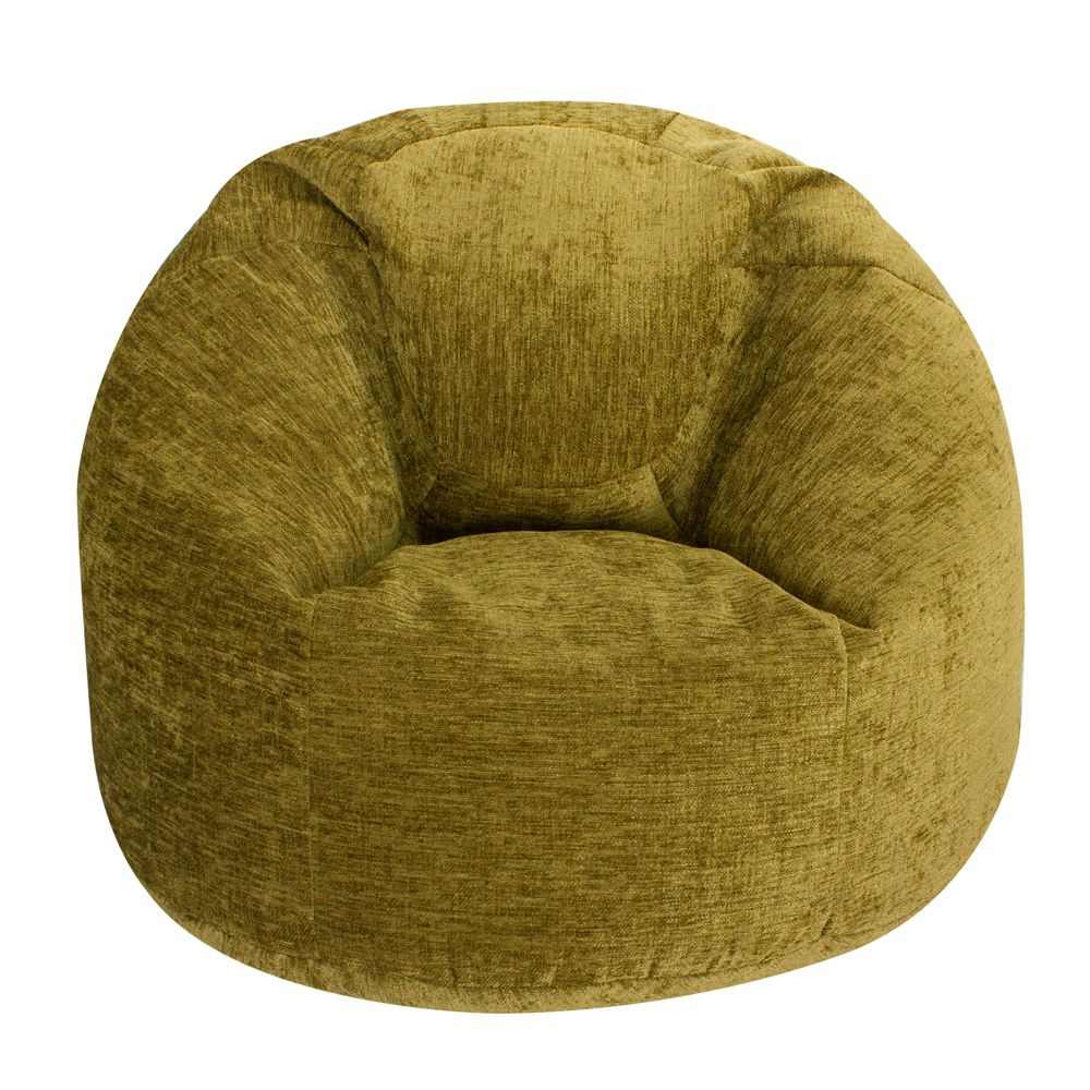 Stupendous Xl Panelled Bean Bag In Luxury Chenille Moss Green Creativecarmelina Interior Chair Design Creativecarmelinacom