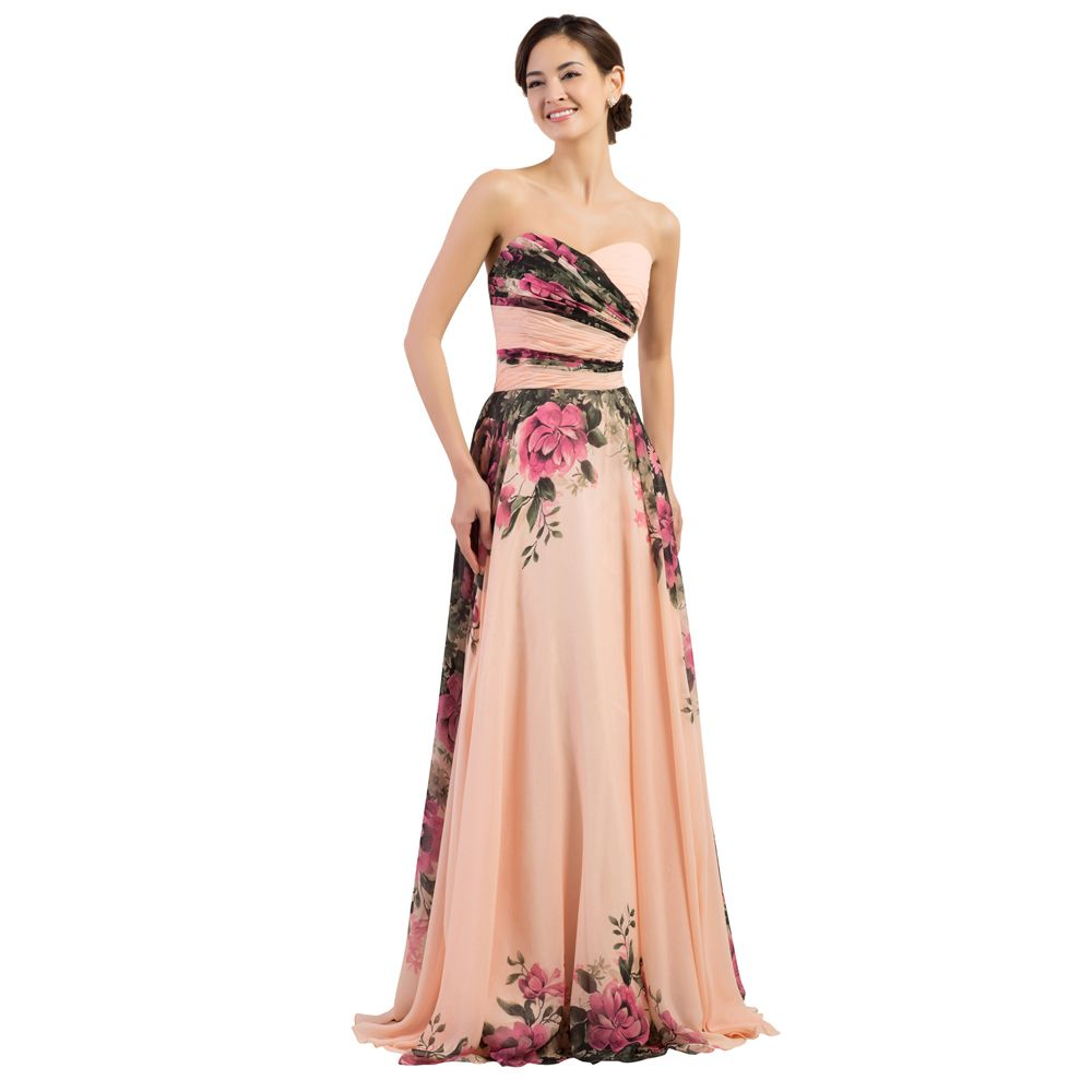 108c0fcfbde49 Floral Print Chiffon Evening Dress Long Prom Dresses #Floral #Print #Chiffon  #Evening #Dress #Long #Prom #Dresses #design #stocks #flowers #printing ...