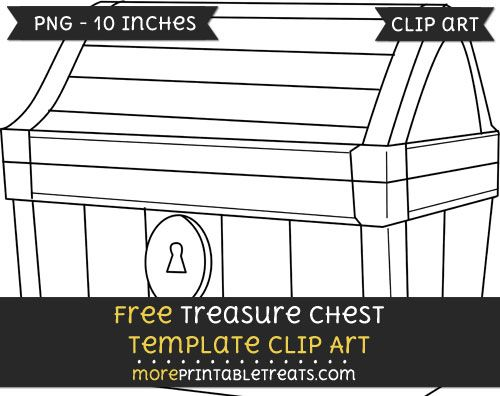 Free Treasure Chest Template Clipart Primary Templates
