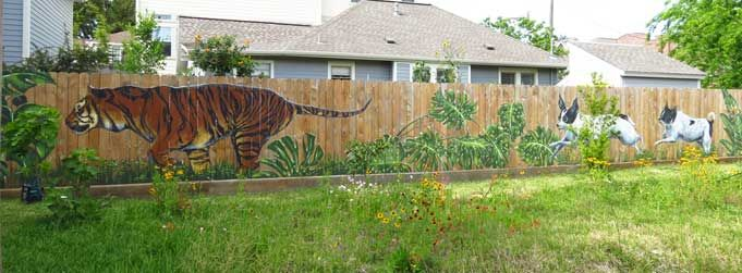 Houston-Murals :: residential :: outdoors
