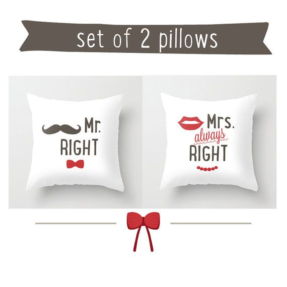 His And Hers Pillow 16x16 Decorative Throw Pillows Grey Red White Pillow Cover Home Decor Ornament And Decoration Ho Pillows Cute Room Ideas Grey Throw Pillows