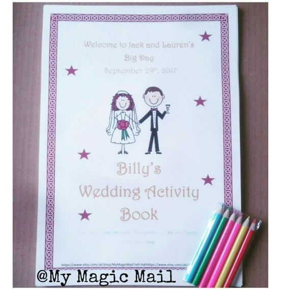Childrens Wedding Day Activity Book By Mymagicmail