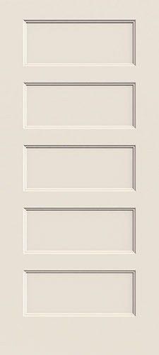 "6'8"" Modern 5-Panel Flat Molded Interior Door Slab ..."
