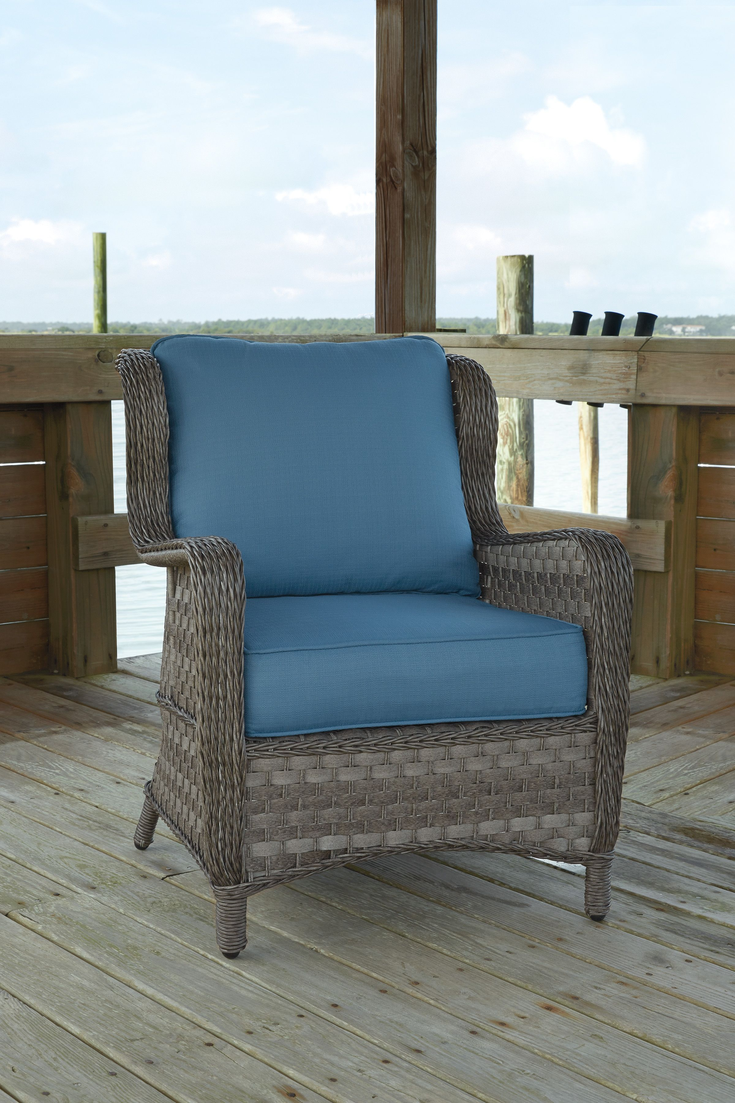 Resin Lounge Chair Ikea Dining Table Chairs 2 Abbots Court Traditional Blue Gray Fabric