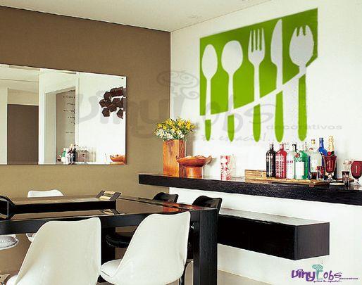 Vinilos para las paredes de tu cocina para m s for Vinilos de cocina