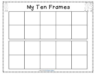 photograph about Ten Frame Printable identified as Absolutely free Printable 10 Frames  Cauldron: Apples, ice