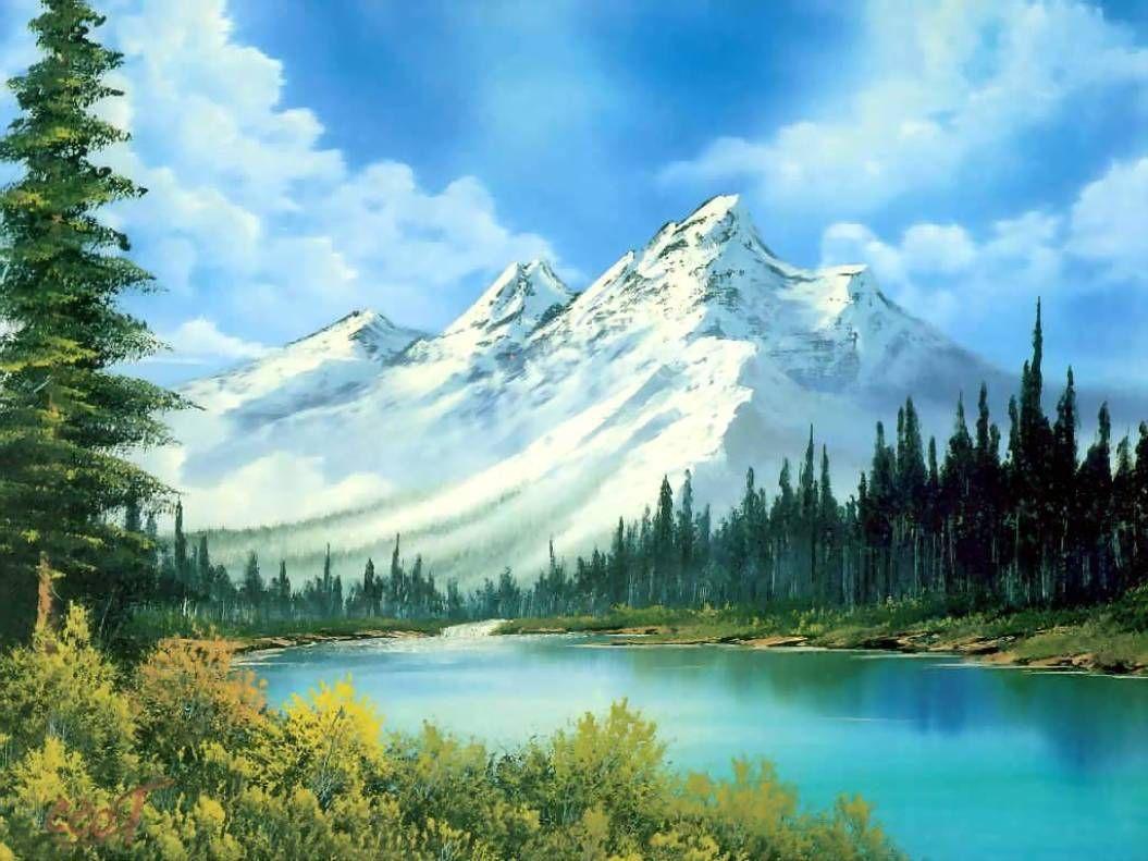 Lukisan Pemandangan Alam Yang Memukau Pemandangan Lukisan Alam