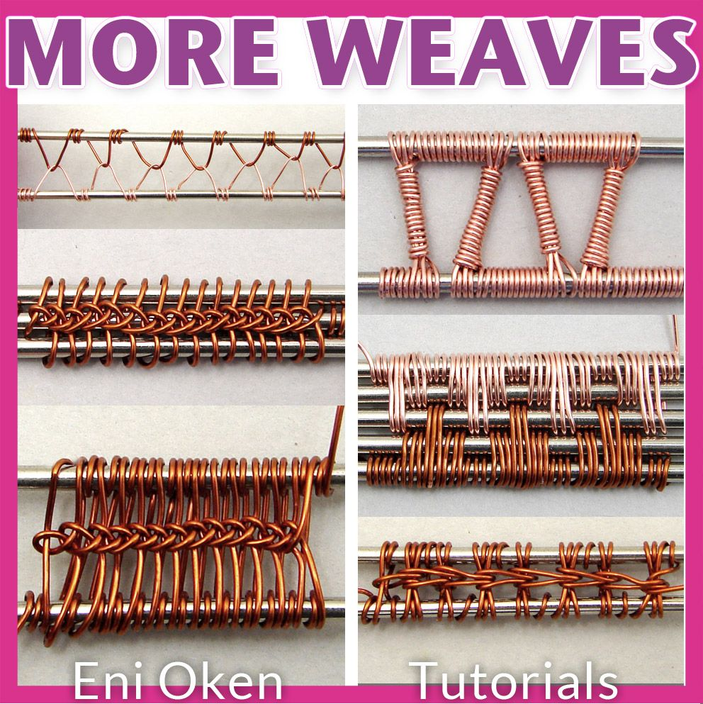 Are you ready for more complex wire wrapping weaving? Get this \