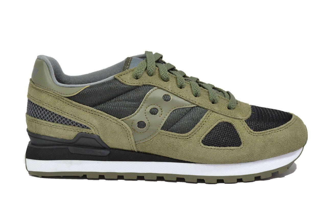 SAUCONY SHADOW sneakers oliva scarpe uomo mod. 2108-655   eBay