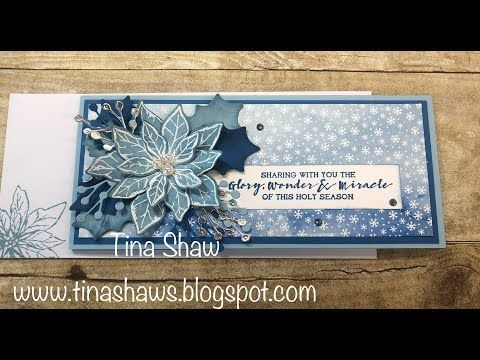 Tina Loves to Stamp: Poinsettia Petals in Balmy Blue