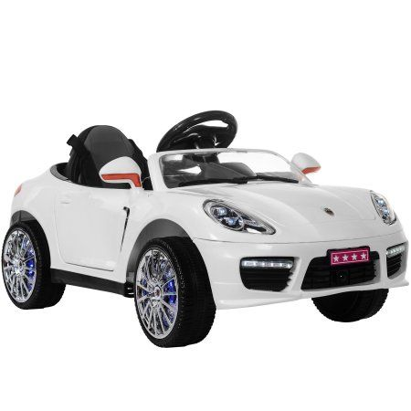 Merax 12v Ride On Car Porsche Style Sports W Mp3 Electric Battery Remote Control White