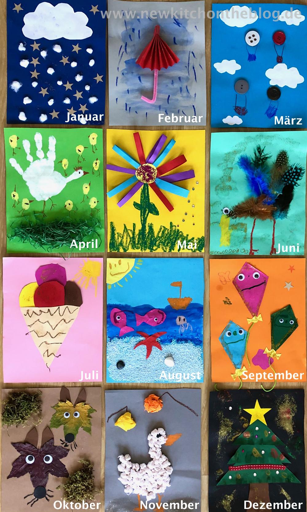 DIY-Kalender mit Kindern basteln