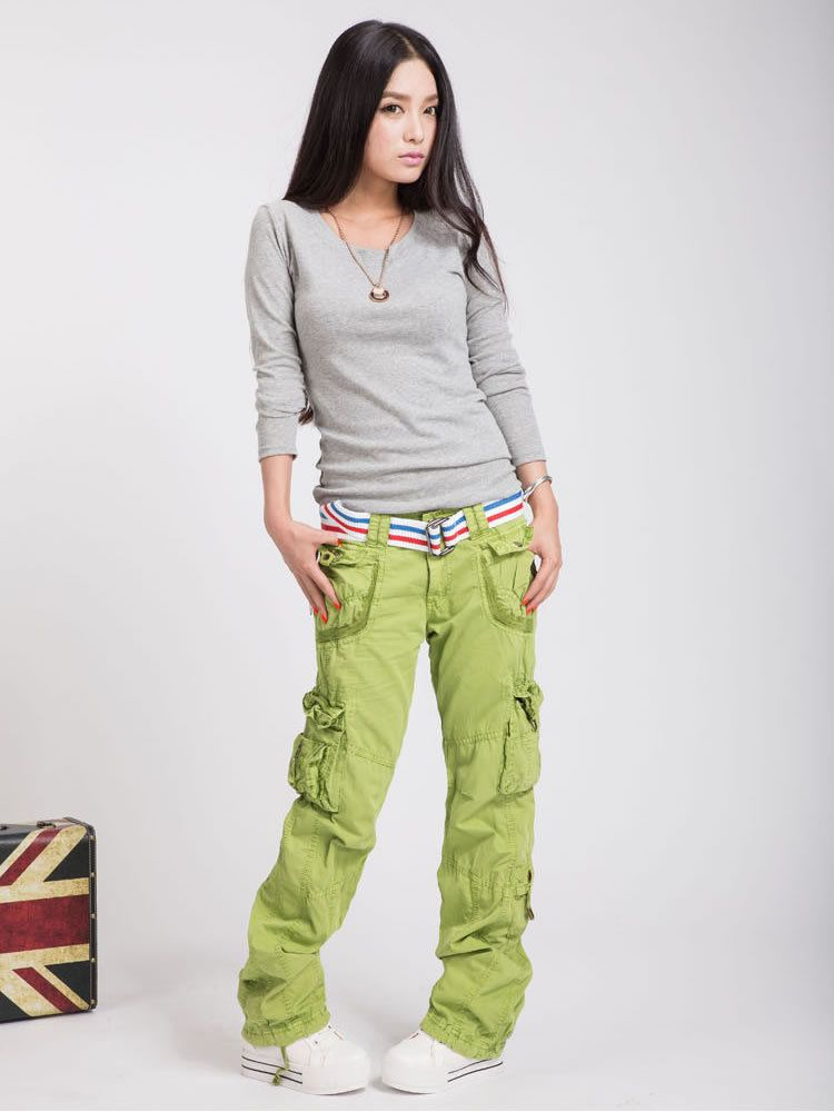 e3f964c15feb UK NEW Womens Girls Army Combat Cargo Trousers Casual Baggy Hip Hop Work  Pants