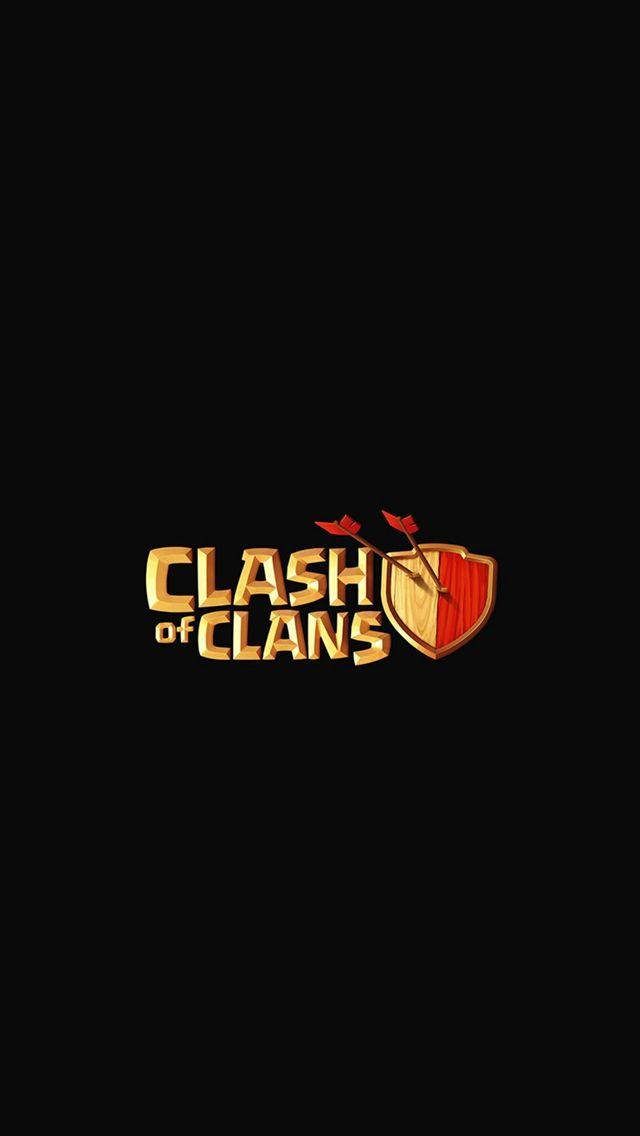 Clash Of Clans Logo Art Dark Game Iphone 5s Wallpaper Iphone Se