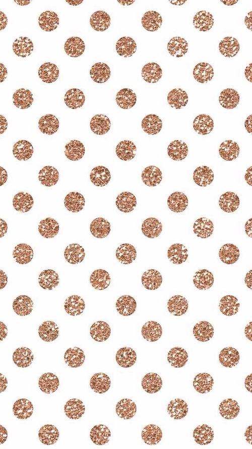 Rose Gold Copper Polka Dots Want More Rose Gold Or