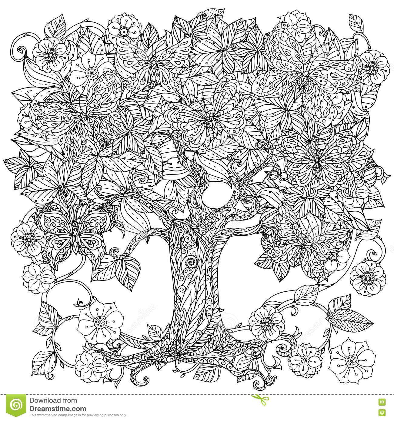 Картинки по запросу раскраски антистресс дерево ...