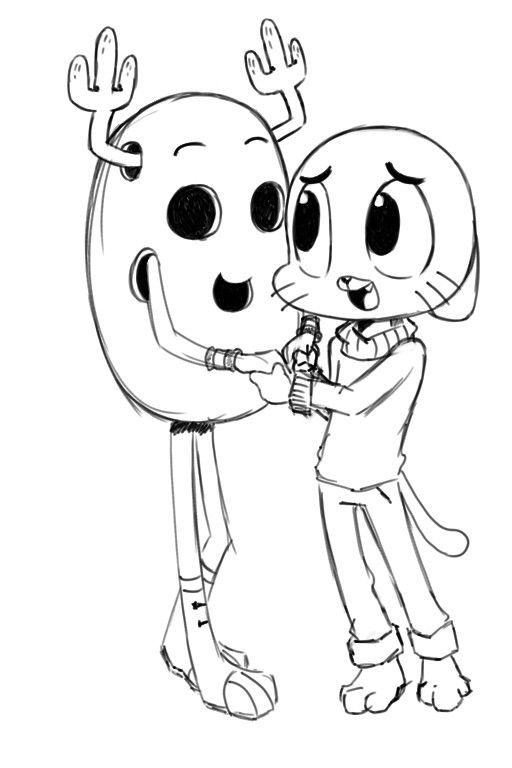 The Amazing World Of Gumball Coloring Pages Gumball And Penny