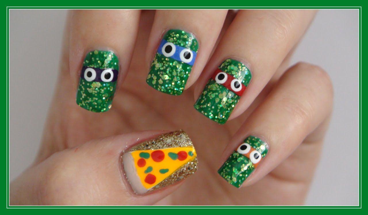 Teenage Mutant Ninja Turtle Nails!!!   MissJenFABULOUS   Nail Art <3 ...