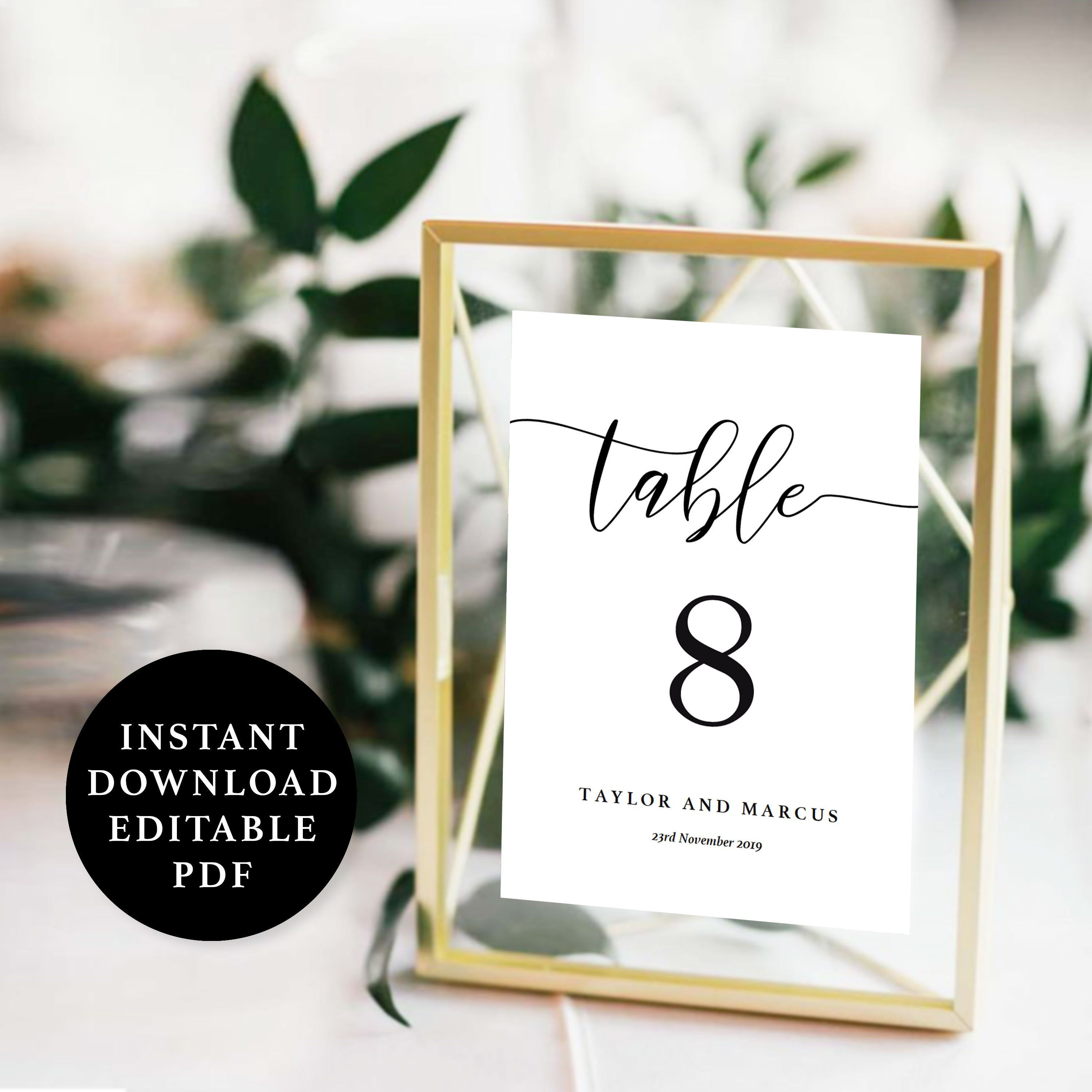Table Number Template 5x7 4x6 And 4x4 Instant Download Etsy Instant Download Etsy Instant Download Printable Number Templates
